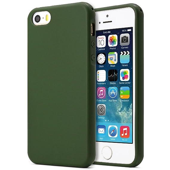 quality design 0ee8f 0fb3d MUNDULEA Matte Case Compatible iPhone 5s/SE/5, Matte TPU Ptotective Cover  Compatible iPhone SE 5S (Deep Green)