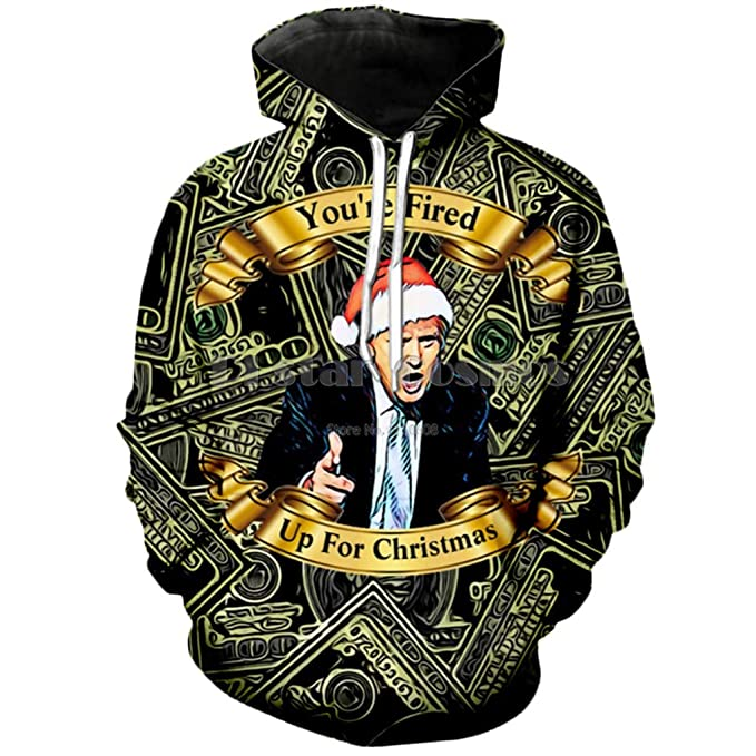998f96805 YX GIRL 3D Hoodies Unisex 3D Printed Donald Trump Christmas Hoodie Funny  Hoodies (Christmas Hoodies