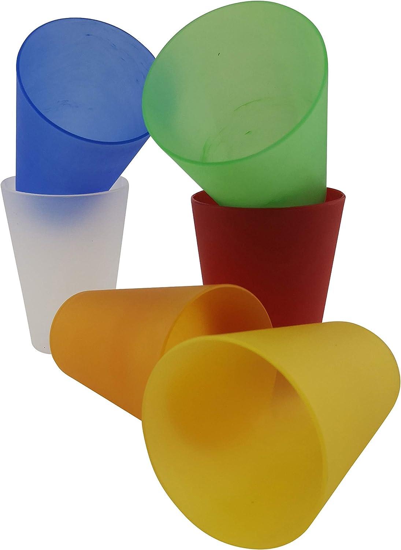 Colori Misti 0,4 l Rikama 30 Bicchieri in plastica