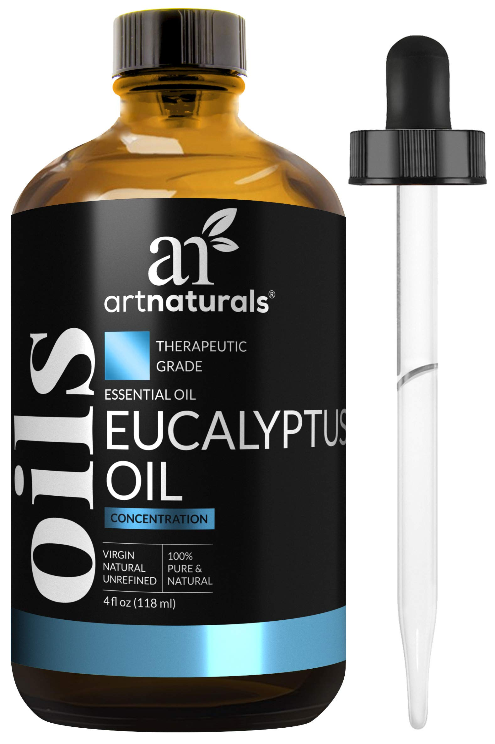 ArtNaturals 100% Pure Eucalyptus Essential Oil - (4.0 Fl Oz / 120ml) - Therapeutic Grade Natural Oils