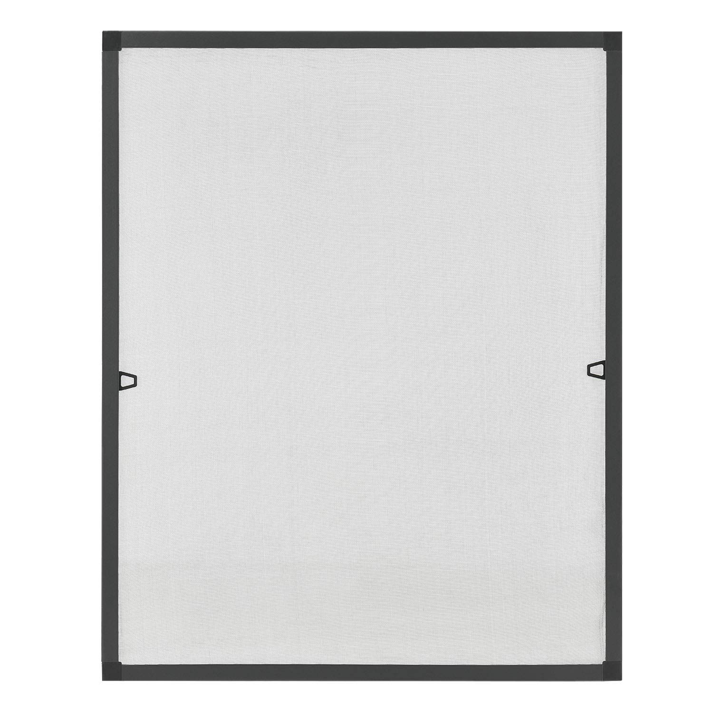 Fliegenschutzgitter f/ür Fenster mit Rahmen aus Aluminium 130 x 150 cm in wei/ß