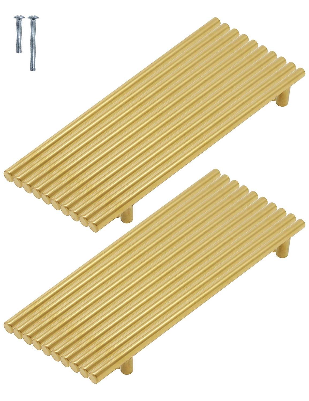 50/mm, 64/mm, 76/mm, 96/mm, 128/mm, 160/mm, 192/mm, 224/mm, 256/mm lat/ón cepillado T Bar pomos acero inoxidable 9/tama/ño Probrico tiradores de puerta de armario de cocina