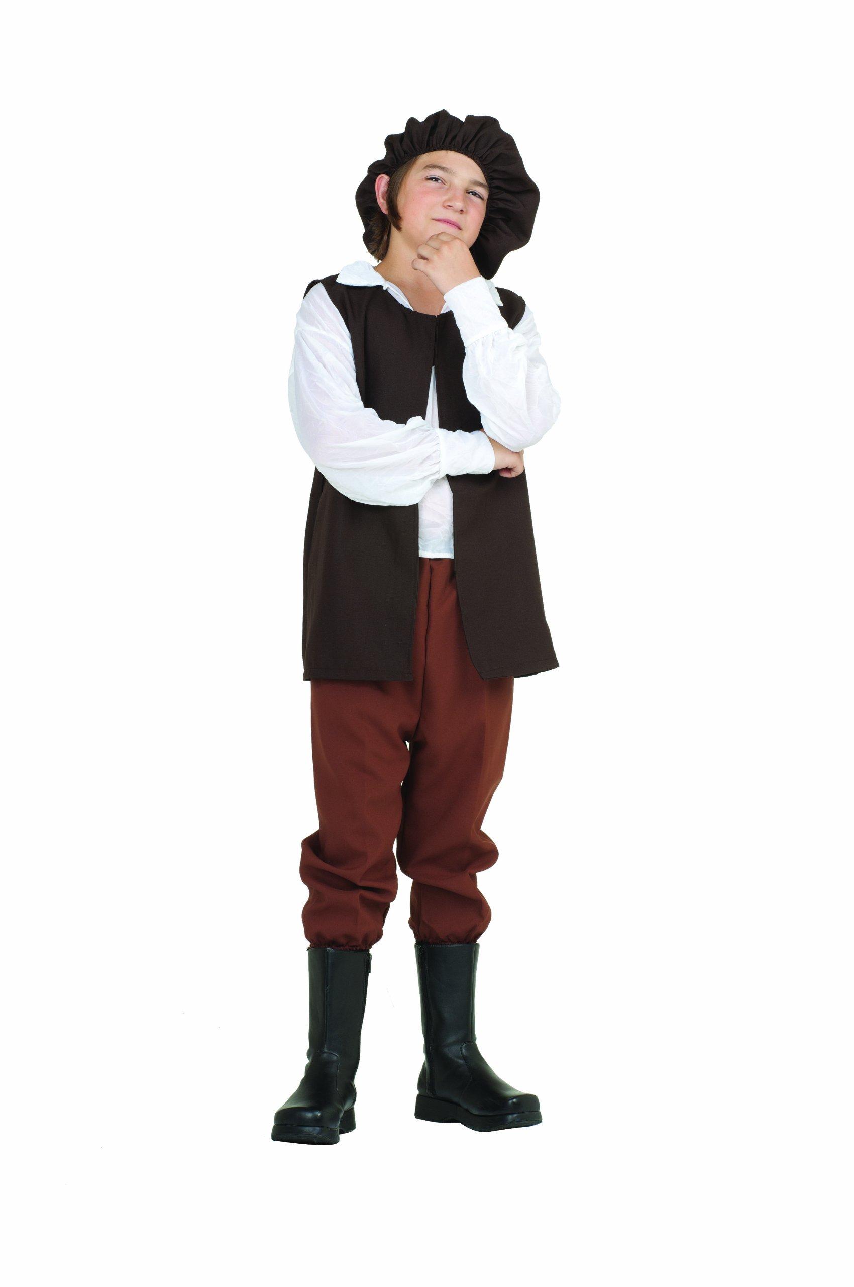 RG Costumes Renaissance Boy Costume, Brown/White, Large