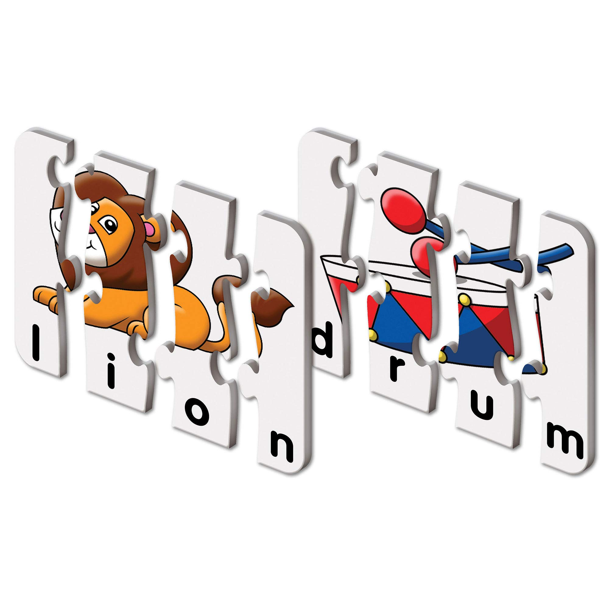 The Learning Journey: Match It! - 4 Letter Words - 20 Piece Self-Correcting Spelling Puzzle with Matching Images - Spelling Puzzles for Kids Ages 3-5 - Award Winning Toys