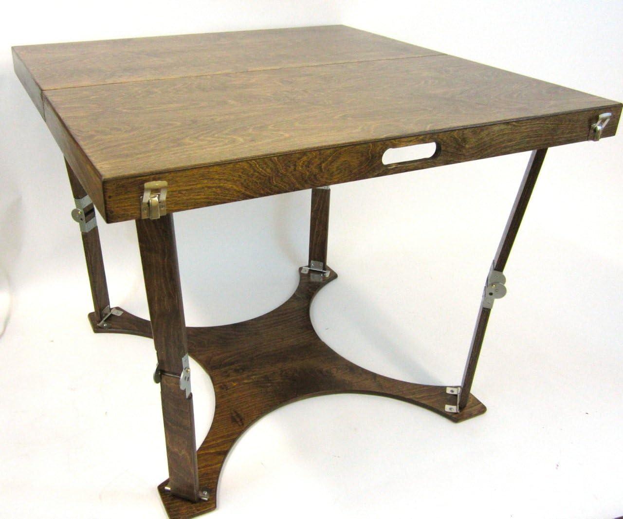 Spiderlegs Folding Dining Table, 36-Inch, Dark Walnut