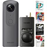Ricoh THETA V 360 4K VR Camera with TA-1 3D Microphone and Video Editing Kit