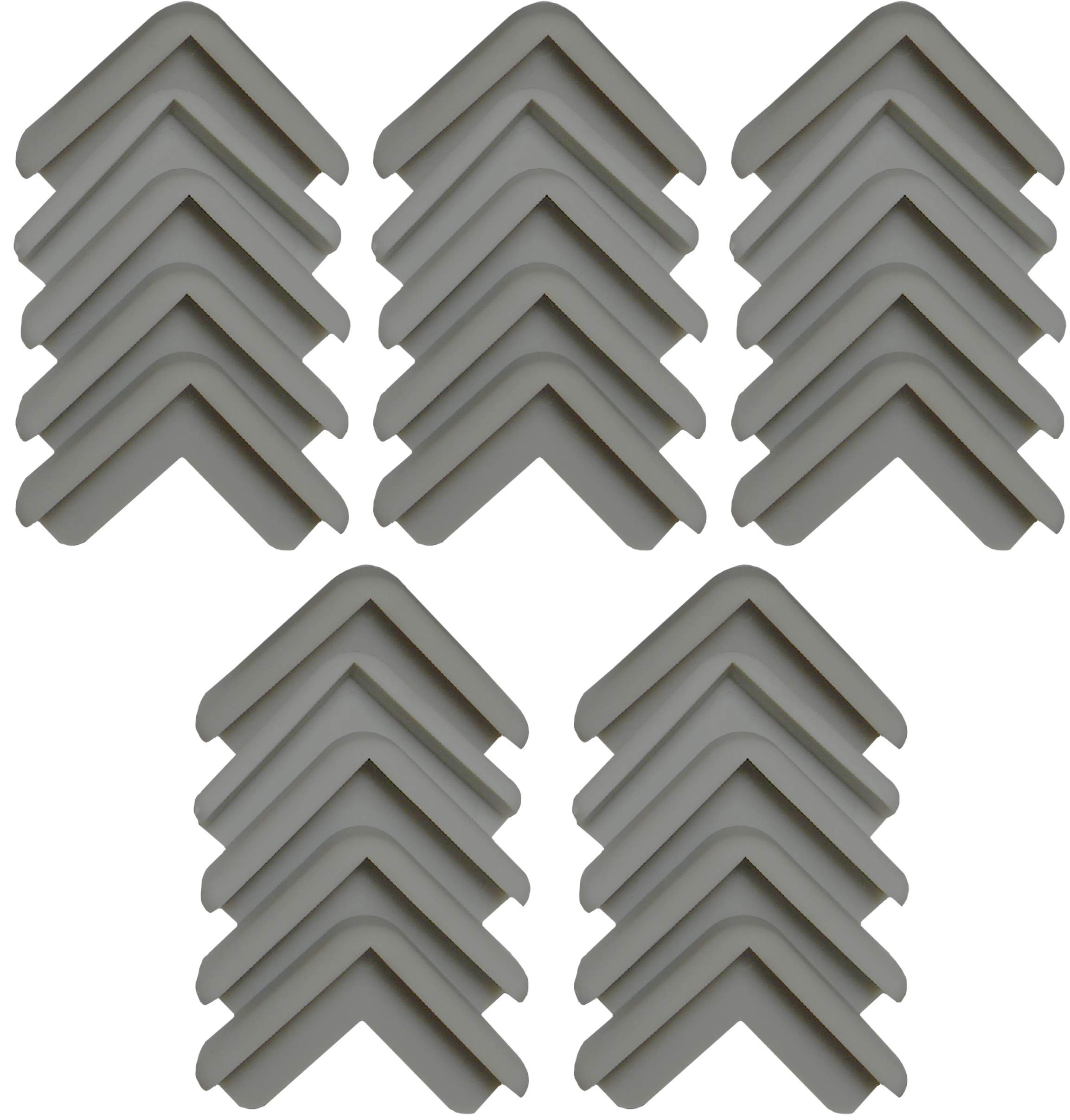 Boing Safety | Mini 2D Rubber Corner Guards | 25 Pack | Grey