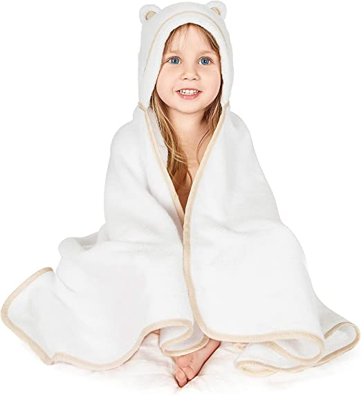 Amazon.com: Premium Toddler Towel with Hood | Organic Bamboo