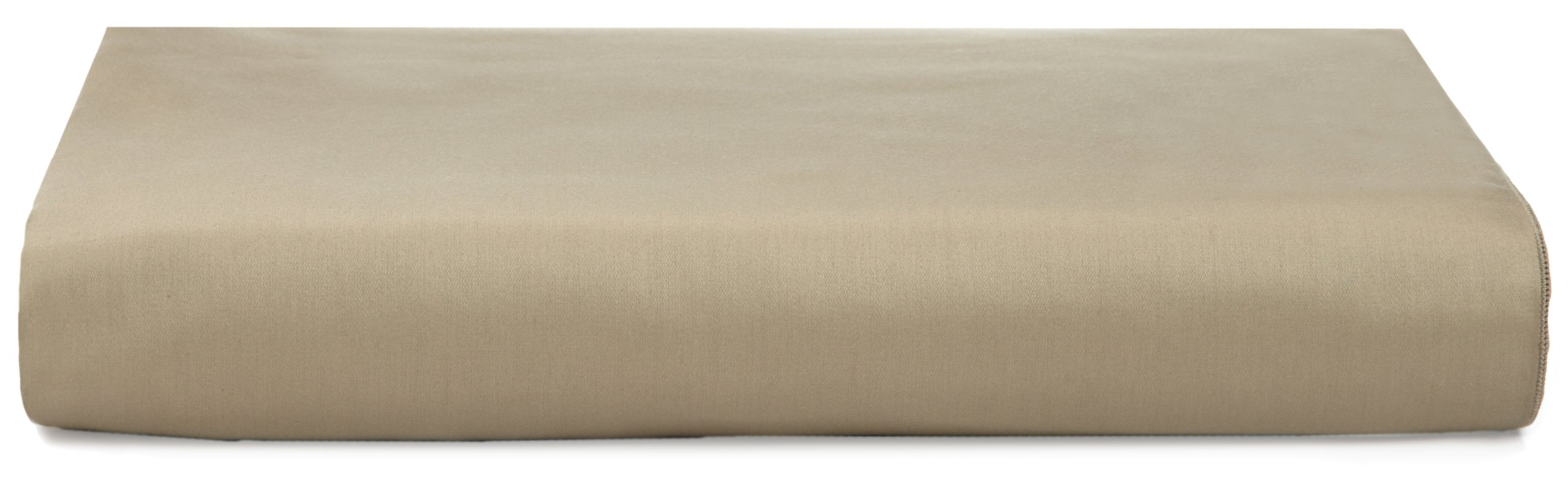 Calvin Klein Home Pearl Edge Solid Sateen Fitted Sheet, California King, Bronze