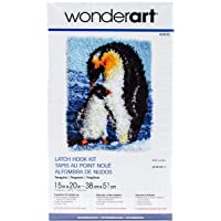 "Wonderart Penguins Latch Hook Kit, 15"" x 20"""