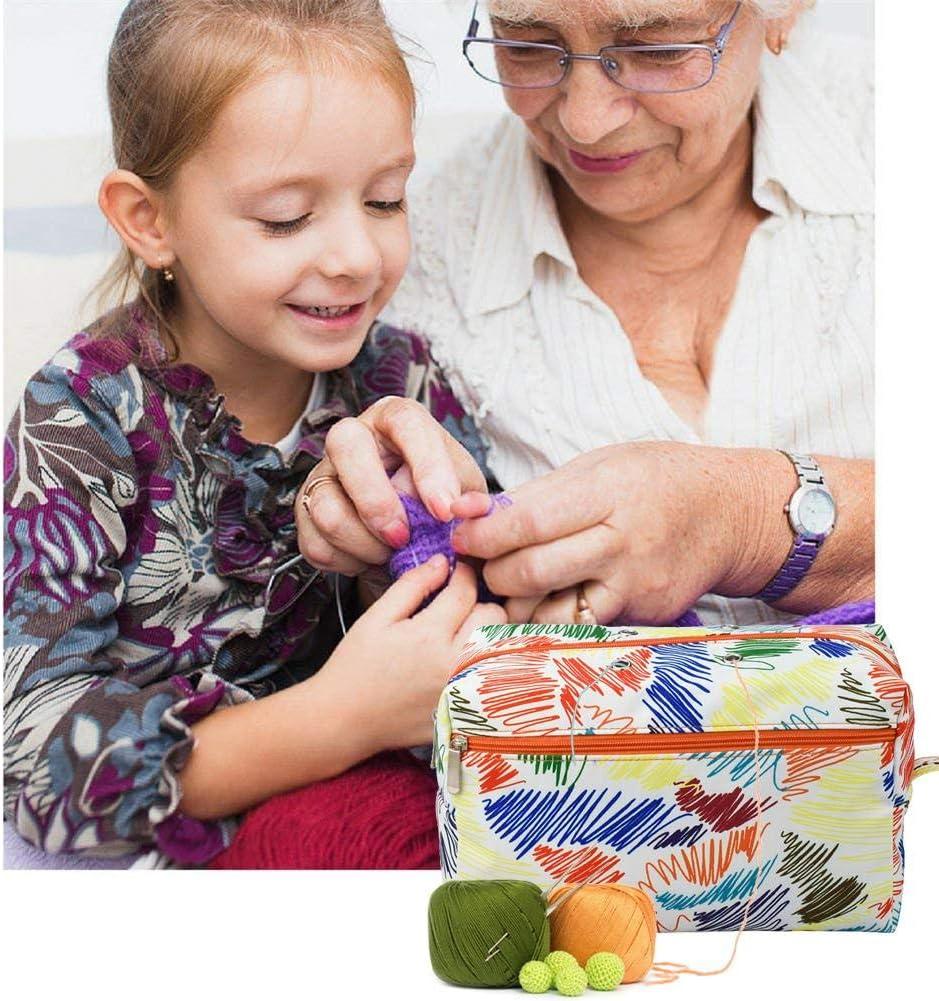 Lamptti Yarn Storage Bag Sac au Crochet Aiguilles /à Tricoter Sac /à Tricoter Portable pour pelotes de Laine Crochets