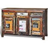 vidaXL Anrichte Kommode Recyceltes Massivholz Retro mit 3 Schubladen 3 Türen