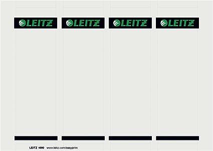 Leitz - Etiquetas Adhesivas para Lomo y para Lomo Imprimibles por ...