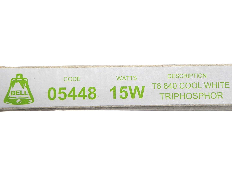 2 Pack of 15W T8 450mm 18 Fluorescent Tubes Cool White 4000k Bell Lighting 05448