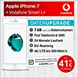 Apple iPhone 7 (silber) mit 32 GB internem Speicher, Vodafone Smart L+ inkl. 7GB Highspeed Volumen mit max 500 Mbits, inkl. Telefonie- und SMS Flat, EU-Roaming, 24 Monate min. Laufzeit, mtl. € 41,99