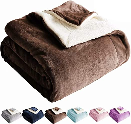 EXTRA SOFT WARM AND COSY PLUSH CHOCOLATE BROWN FLEECE THROW BLANKET GIFT IDEA