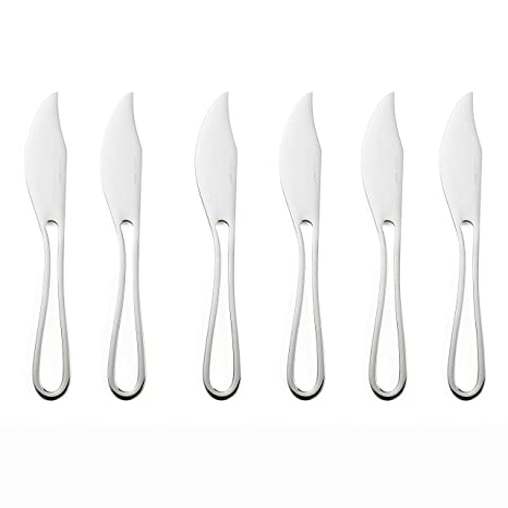 Outline Cutlery: 6 cuchillos de pescado de diseño mate ...