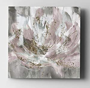 WEXFORD HOME Blush Flower Power Gallery Wrapped Canvas Wall Art, 16x16,