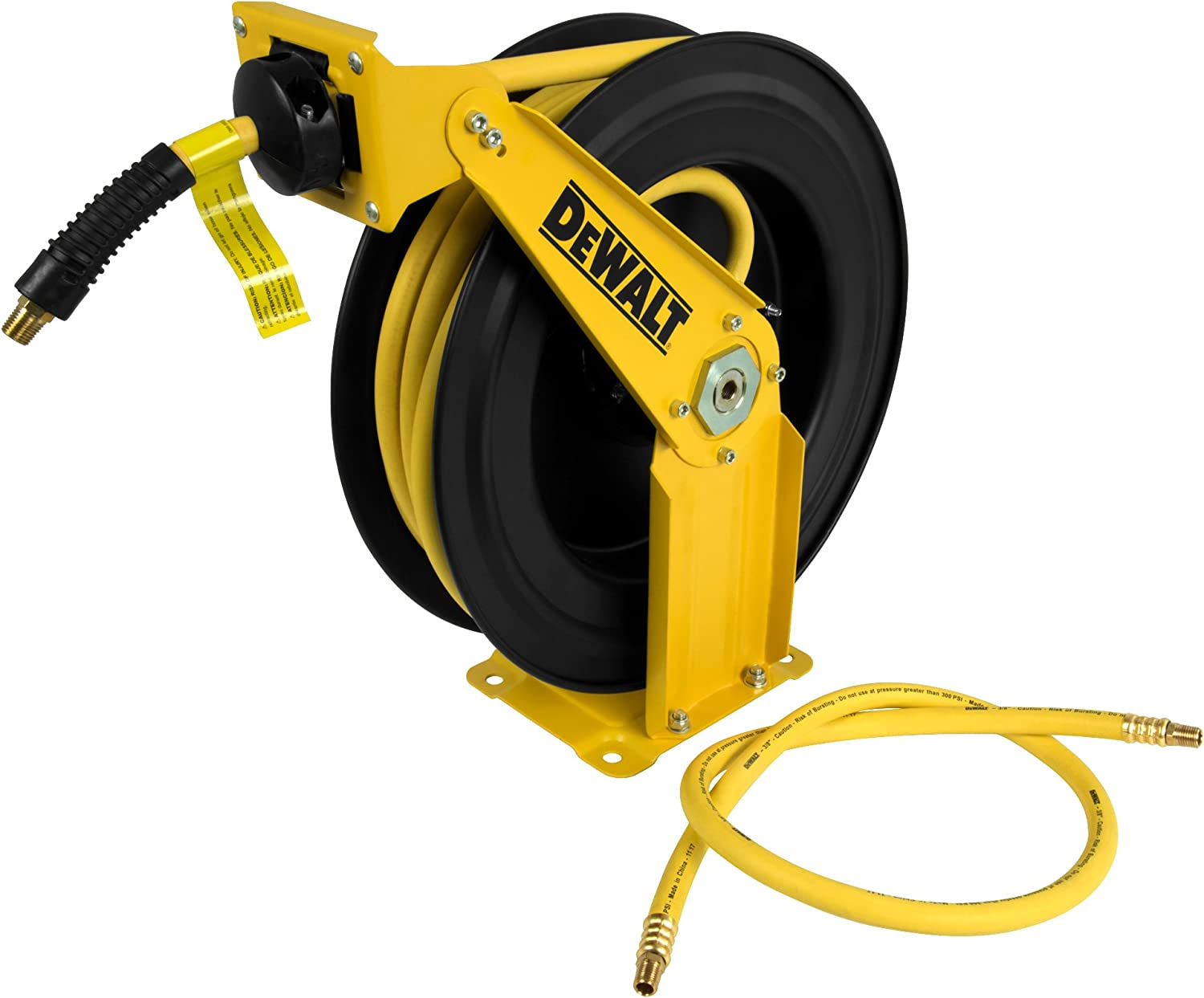 "DeWalt DXCM024-0343 Double Arm Hose Reel with 3/8"" x 50' Premium Rubber Hose - -"