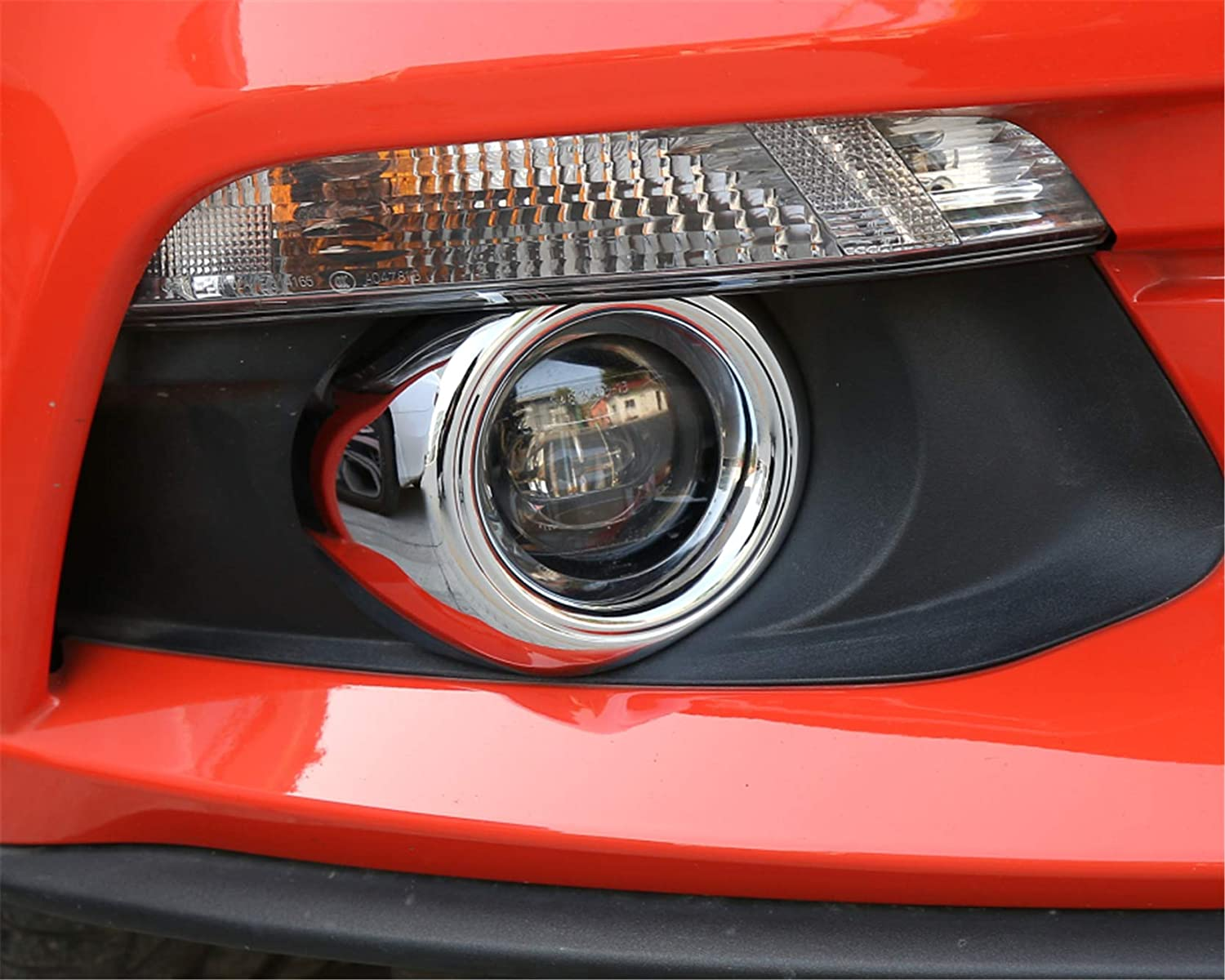 Front Fog Light Decoration Ring Frame Cover Trim Shell ABS Wear Resisting Scratch Protection Device for Ford Mustang 2015+ Carbon Fiber S5001
