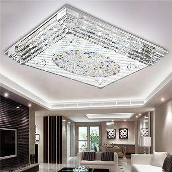 DELLT- Rechteckiges Kristalllicht einfaches Wohnzimmer ...