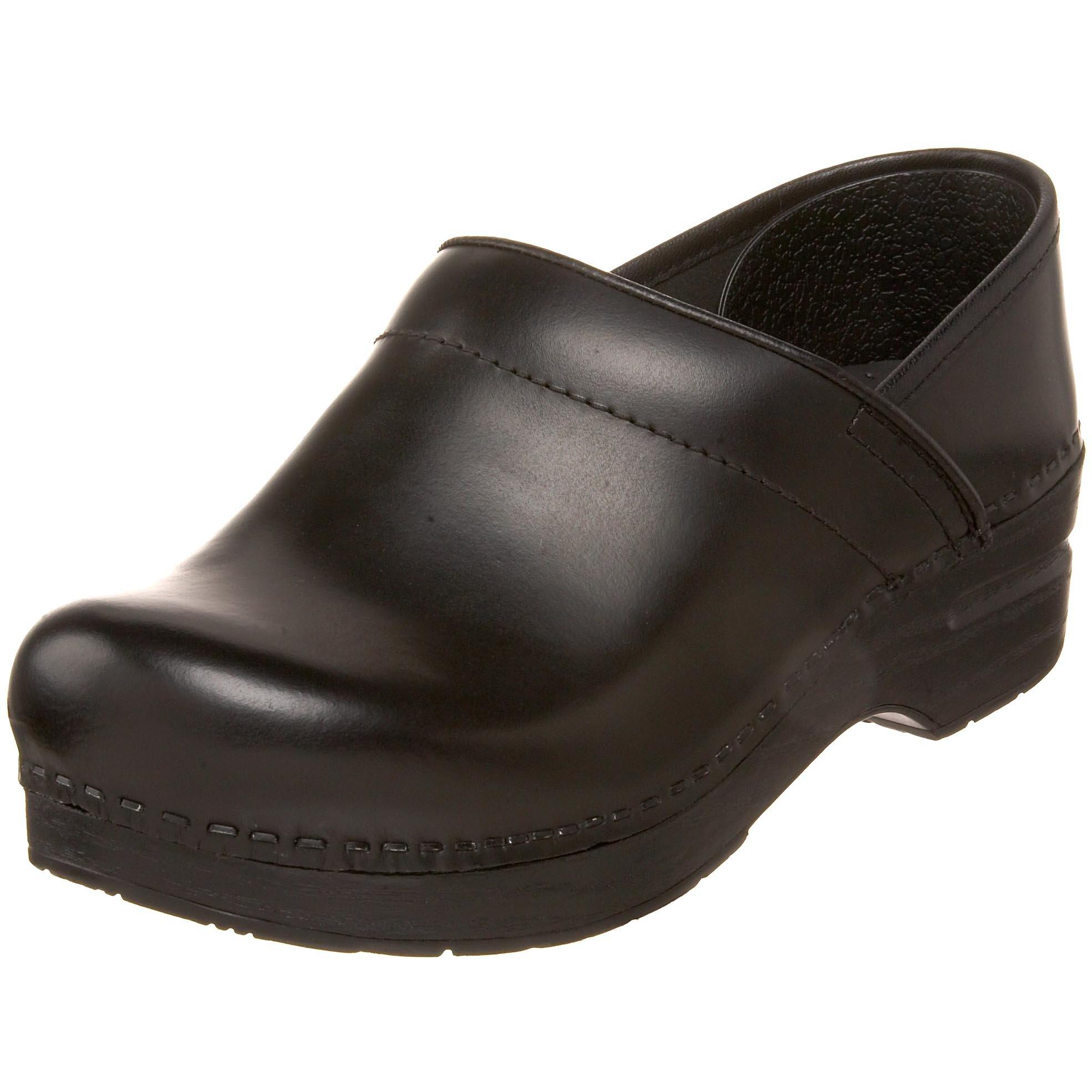 Dansko Women's Wide Professional Clog,Black Cabrio,38 W EU / 7.5-8 D(W) US