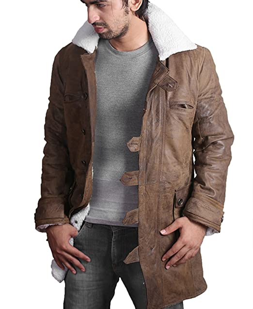Amazon.com: BANE Coat Tom Hardy - Dark Knight Rises Vintage Distressed Look Leather Jacket: Clothing