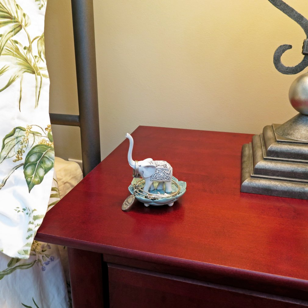 Evelots Elegant Good Luck Elephant Jewelry Ring Holder, Jewelry Stand by Evelots (Image #2)