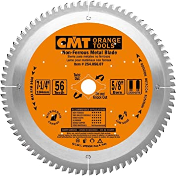 Cmt 254 056 07 Itk Industrial Non Ferrous Metal And Melamine Blade And 7 1 4 Inch Diameter By 56 Teeth With 5 8 Inch Bore Ptfe Coated Circular Saw Blades Amazon Com