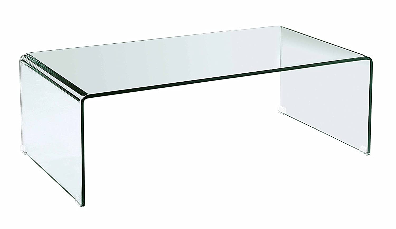 clear glass furniture. amazoncom creative images international occasion collection bent glass coffee table clear kitchen u0026 dining furniture l