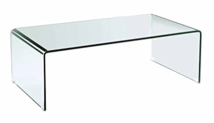 Superbe Neos Modern Furniture Creative Images International Occasion Collection Bent  Glass Coffee Table, Clear