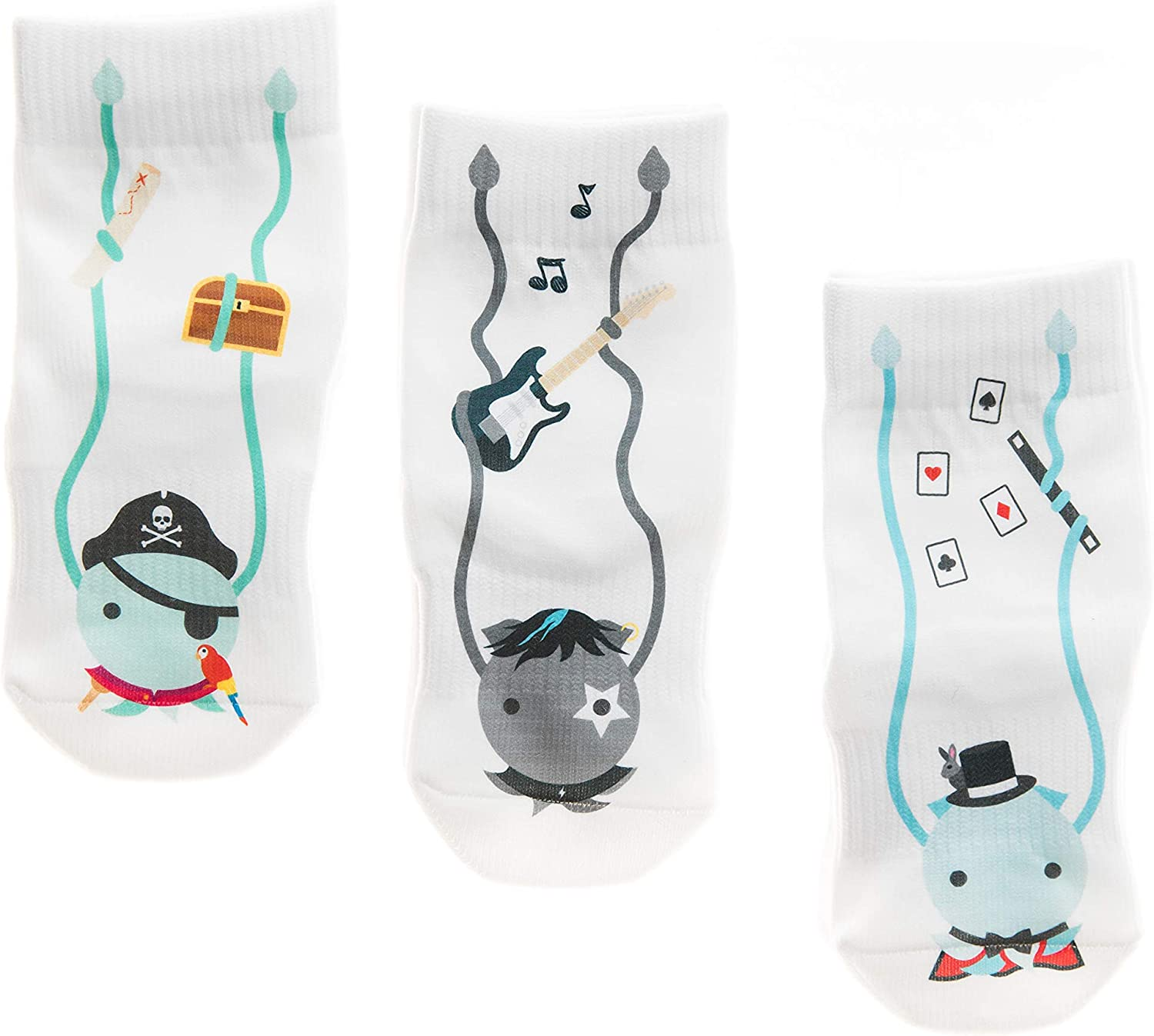 socks that don/'t come off Squid Socks Unisex 3 pack 0-3y//o Corey as seen on Shark Tank patent pending design