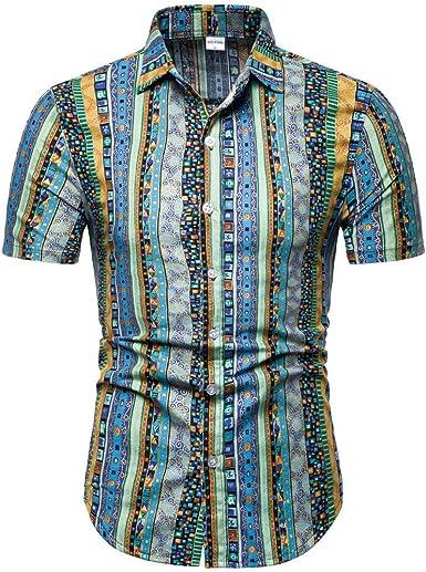 Camiseta El Patrón De Los Hombres Moda Casual Camisa De Ropa ...