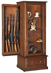 American Furniture Classics 611 10 Gun/Curio Slider Cabinet Combination