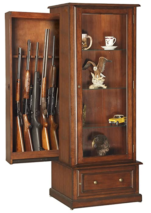 8. American Furniture Classics 611 10 Gun/Curio Slider Cabinet Combination