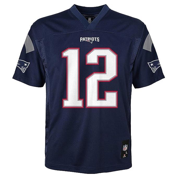 325dc4a8 Tom Brady New England Patriots NFL Kids Navy Home Mid-tier Jersey