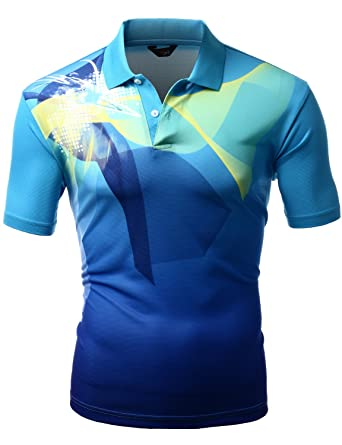 Xpril Men\'s Cool Max Fabric Sporty Design Printed Polo T-Shirt at ...