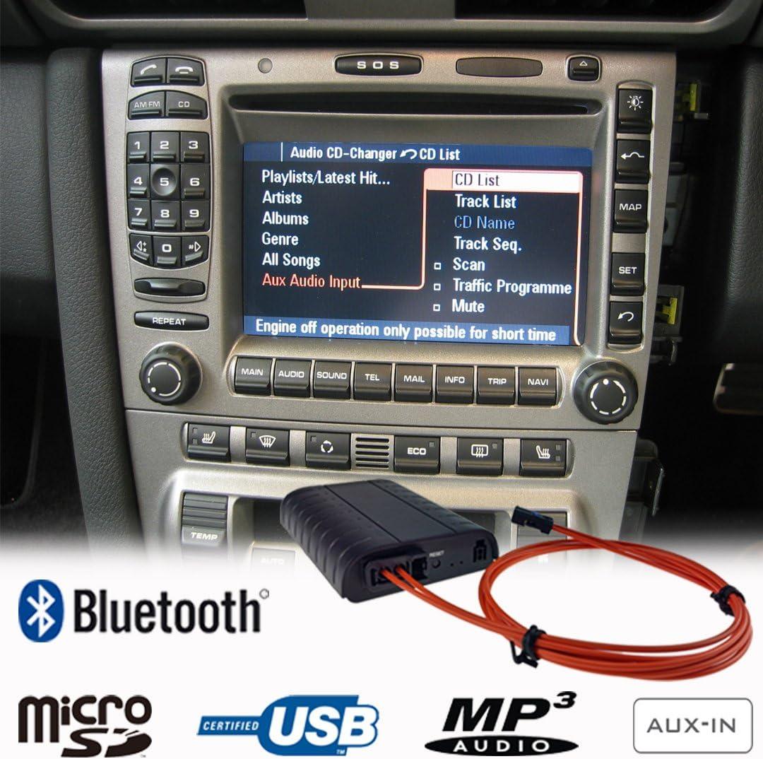 Bluetooth A2DP Manos Libres USB SD AUX Adaptador para Porsche 911 997 Boxster Cayman Cayenne PCM2.0/2.1 CDR23 / 24 Kit de Coche