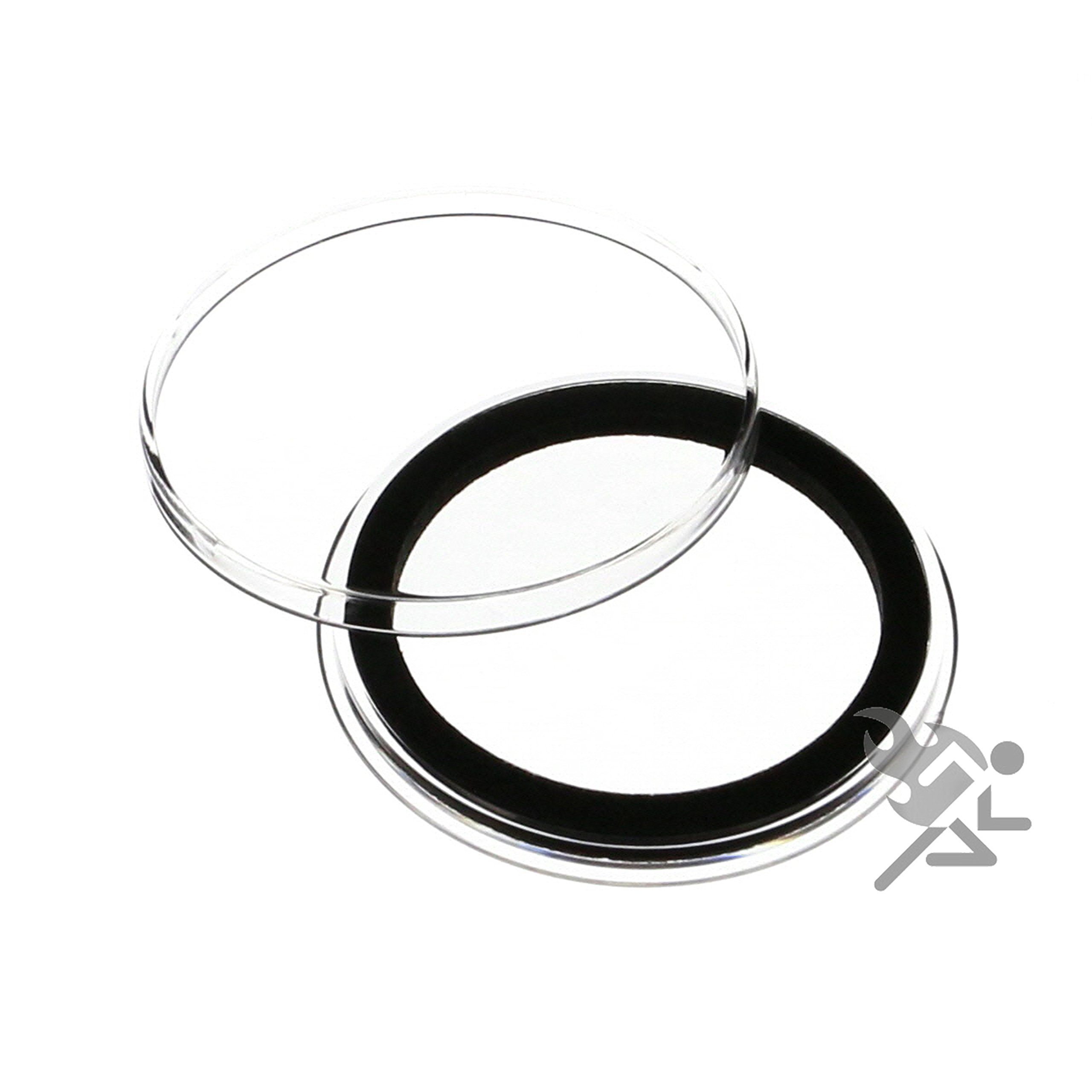 (20) Air-tite 39mm Black Ring Coin Holder Capsules for 1oz Silver & Copper Rounds Casino Chips