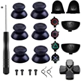 Yosikr 3 Pairs Thumbsticks Joystick for PlayStation 4 PS4 Controller Gamepad with Cross Screwdriver + L2 R2 L1 R1 Trigger Replacement Parts + ABXY Bullet Buttons + D-pad + Small spring