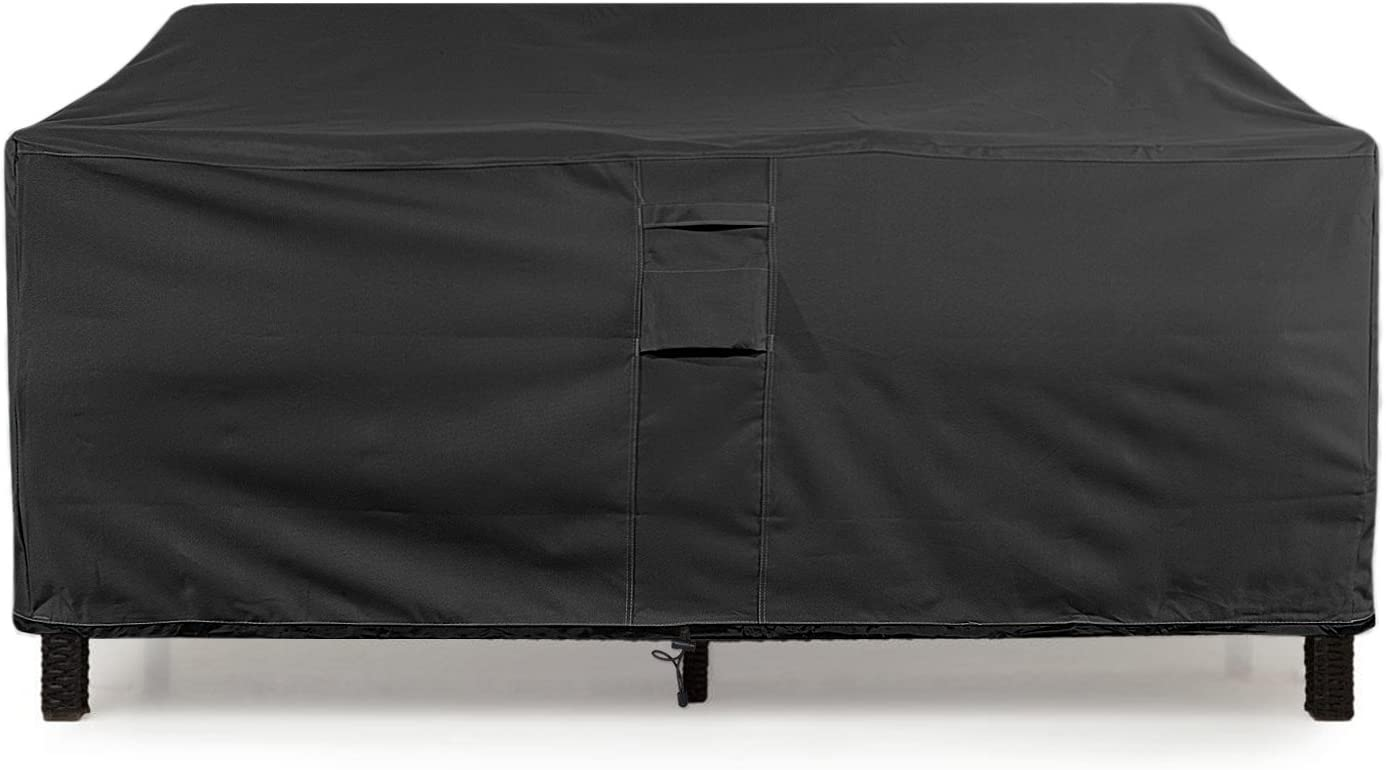 KHOMO GEAR Small-Black GER-1078 Waterproof Heavy Duty Outdoor Lounge Loveseat Sofa Patio Cover, 58 x 32.5 x 31