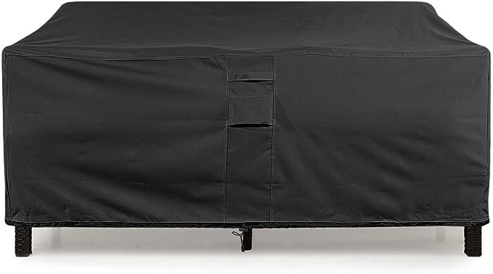 "KHOMO GEAR Large-Black GER-1080 Waterproof Heavy Duty Outdoor Lounge Loveseat Sofa Patio Cover, (88'' x 32.5'' x 33"")"