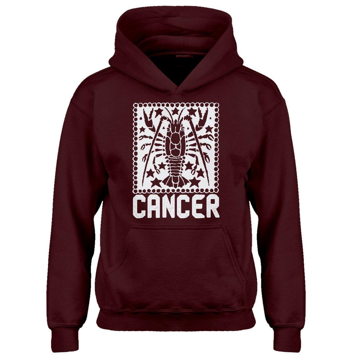 Indica Plateau Youth Cancer Zodiac Astrology Kids Hoodie