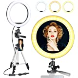 ODOM 10'' Selfie Ring Light with Stand for Cell Phone – Dimmable LED Camera Makeup Light for YouTube Tiktok Video Vlog…
