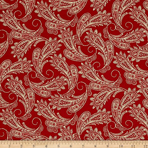 [Ranch Hands Bandana Red Fabric By The Yard] (Cowboy Print Fabric)