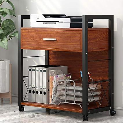 Tribesigns Soporte para impresora móvil, moderno armario de ...