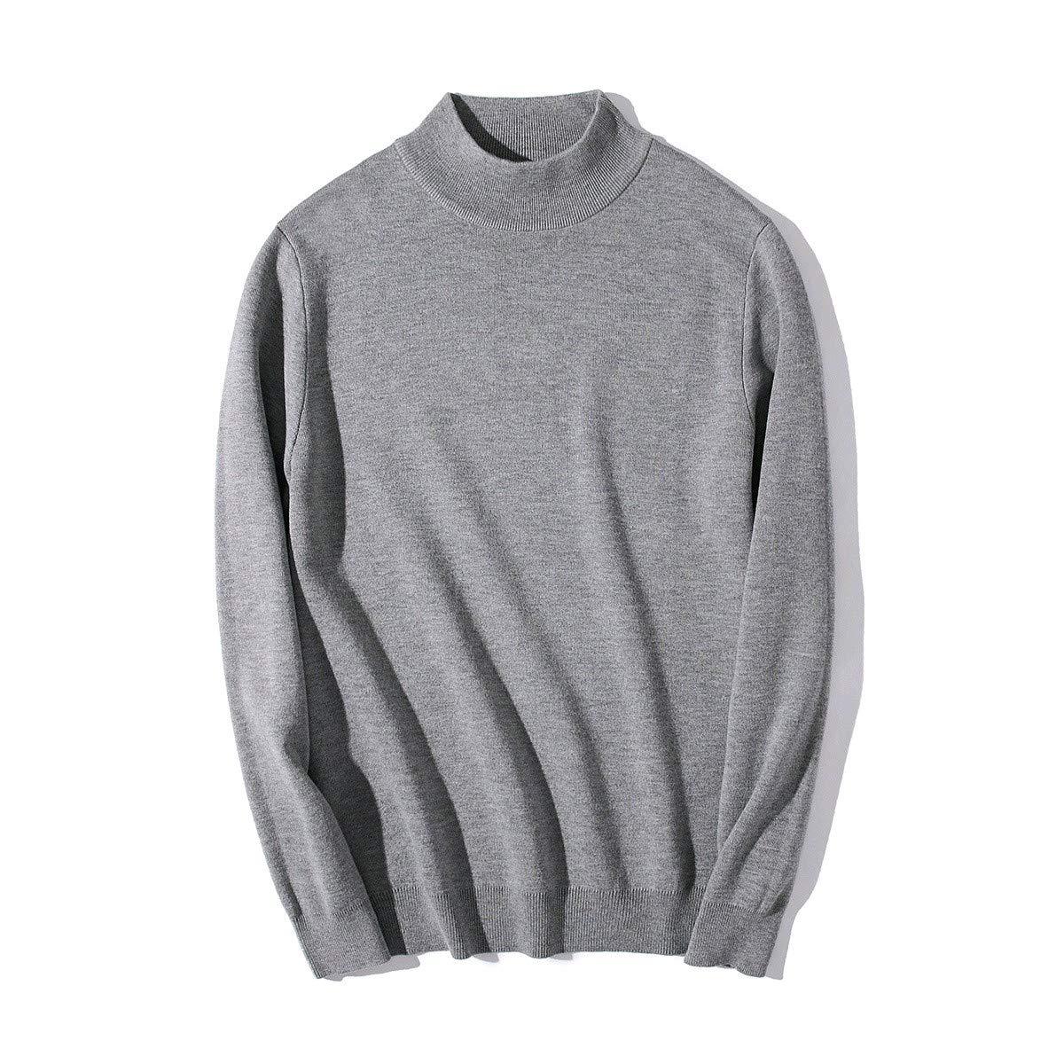 YUNY Men Turtleneck Pullover Oversize Colortone Pullover Sweater 6 S