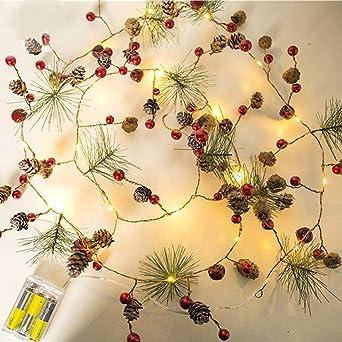 Weihnachtsbeleuchtung Tannenzapfen.Ibaste 20 Leds Weihnachtsdeko Lichter Diy Tannenzapfen Lichterkette