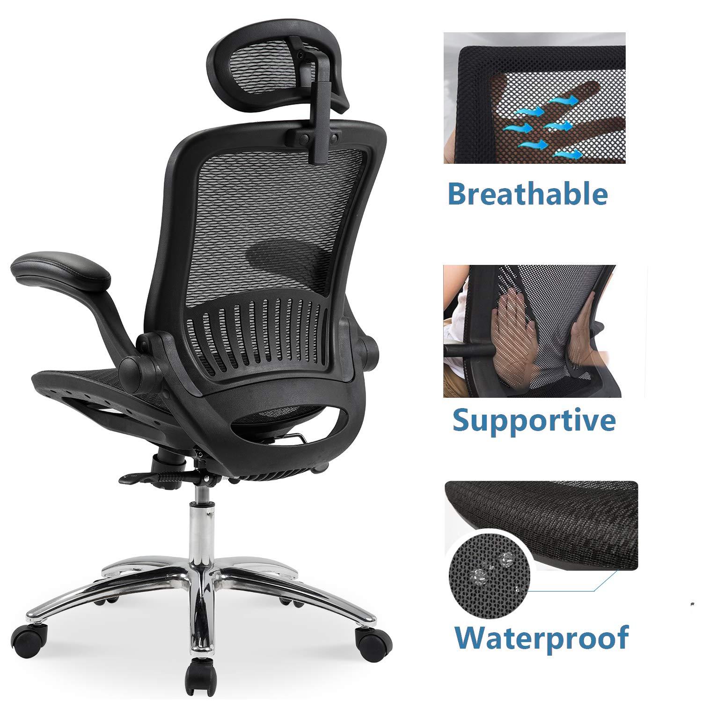 Merax Ergonomic Mesh Adjustable Home Desk Chair Office Chair Modern New Design Reclining Chair by Merax (Image #6)