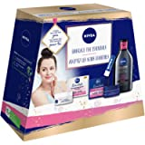 Nivea Face Care Essentials Gift Set, Day & Night Cream for Daily Routine, Micellar Water Makeup Remover and Lip Balm for…